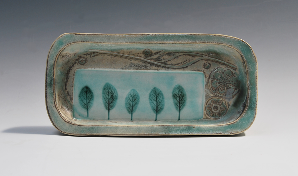 Small oblong porcelain tray