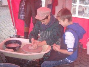 """Have a go on the potter's wheel"" Melton Victorian Xmas Fair"